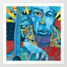 Blue Music Art Print