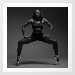 The Dancer (Strength and Form). Art Print