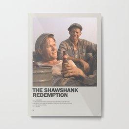 Shawshank Redemption Minimal Movie Poster No 03 Metal Print
