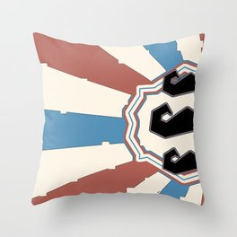 The Mighty Mighty Mo Throw Pillow