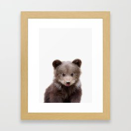 Baby Bear Cub Framed Art Print