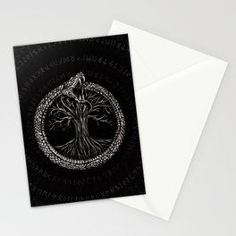 Ouroboros with Tree of Life Stationery Cards