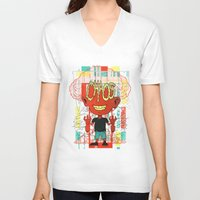 chaos V-neck T-shirts featuring Chaos by Tshirt-Factory