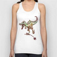 dino Tank Tops featuring dino  by Bunny Noir