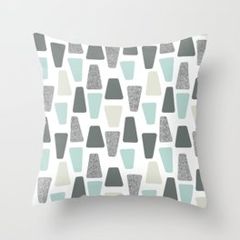Whippany in Teal Throw Pillow