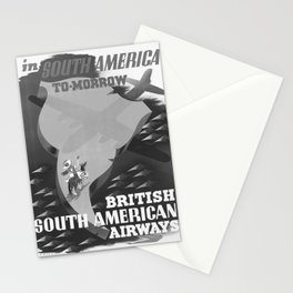 cartaz South America To-Morrow Stationery Cards