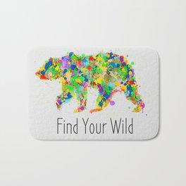 Find Your Wild Bath Mat