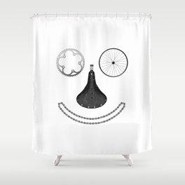 Happy Rider Shower Curtain
