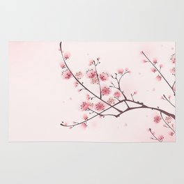 Oriental cheery blossom in spring 006 Rug
