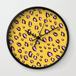 Sunny Leopard Print Wall Clock