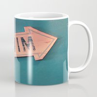 swim Mugs featuring swim by Sylvia Cook Photography
