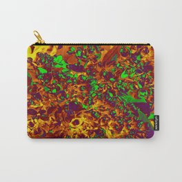 Floral Abstraction in brown Carry-All Pouch