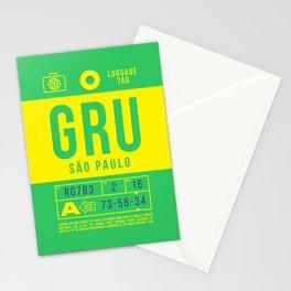 Luggage Tag B - GRU Sao Paulo Guarulhos Brazil Stationery Cards