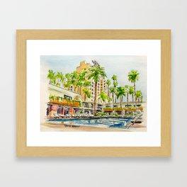 The Hollywood Roosevelt Pool Framed Art Print