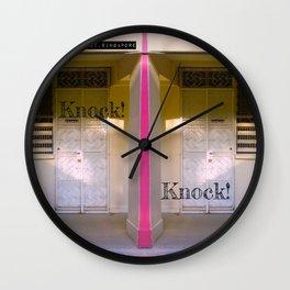 KNOCK KNOCK! Wall Clock