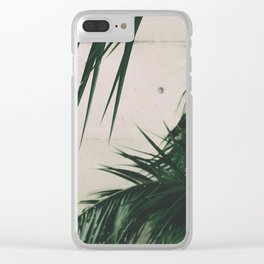 Tropical Palm Leaves Clear iPhone Case
