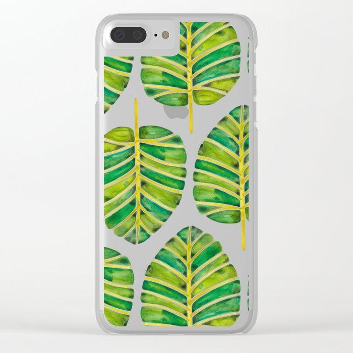 Elephant Ear Alocasia – Green Palette Clear iPhone Case
