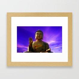 Buddha Blue Dawn Framed Art Print