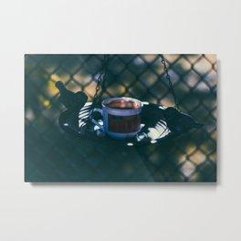 Birds and Coffee Metal Print