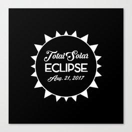 Total Solar Eclipse August 21 2017 Canvas Print
