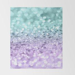 Aqua Purple MERMAID Girls Glitter #1 #shiny #decor #art #society6 Throw Blanket