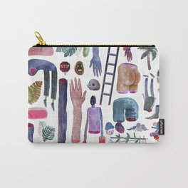Watercolor Pattern Carry-All Pouch