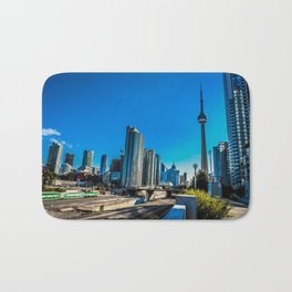 Downtown Toronto View Bath Mat