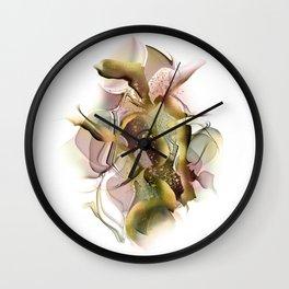 Alcohol ink art, pink ink art, abstract art, gold foil art, Wall Clock