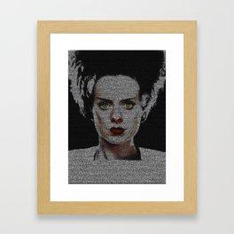 The Bride of Frankenstein Screenplay Print Framed Art Print