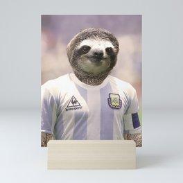 Football Sloth Mini Art Print