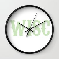 wisconsin Wall Clocks featuring WISCONSIN by wisconsinfresh