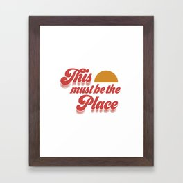 This must be the Place - Sunset Framed Art Print
