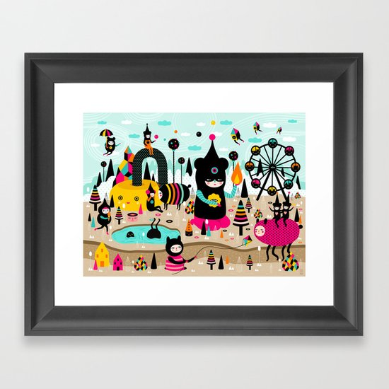 A joyful time! Framed Art Print