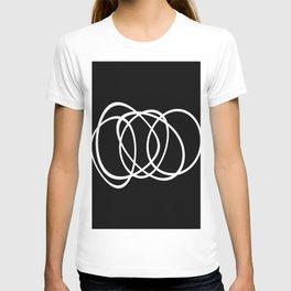 Mid Century Black And White Minimalist Design T-shirt