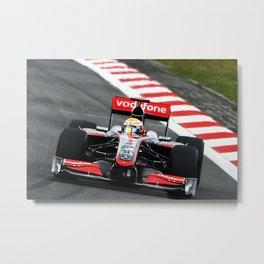 Lewis Hamilton - Mclaren F1 car Nurburgring 2009 Metal Print