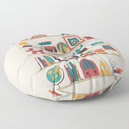 The shelf Floor Pillow