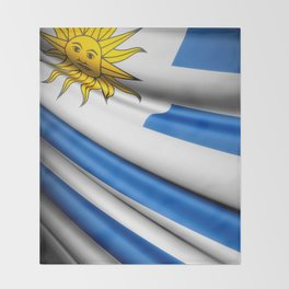 Flag of Uruguay Throw Blanket