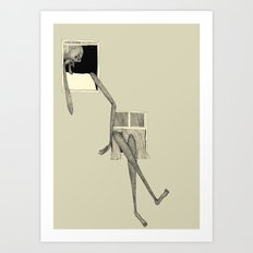absent-minded Art Print
