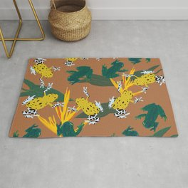 Jungle frogs pattern Rug