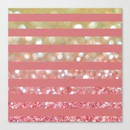 Champagne Tango Stripes Canvas Print