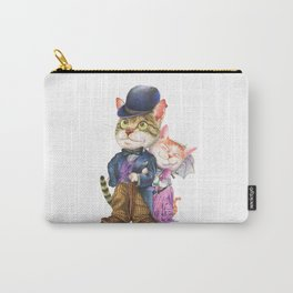 A couple of cats in retro fashion Carry-All Pouch