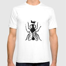 Fly Linocut SMALL Mens Fitted Tee White