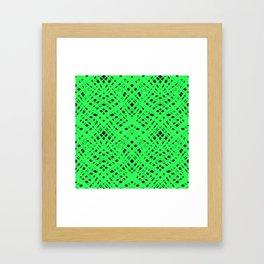 Green geometric Framed Art Print