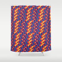pixel art Shower Curtains featuring Pixel  by Colocolo Design | www.colocolodesign.de