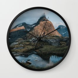 Romsdalshorn - Landscape and Nature Photography Wall Clock