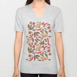 Spices pattern. Unisex V-Neck
