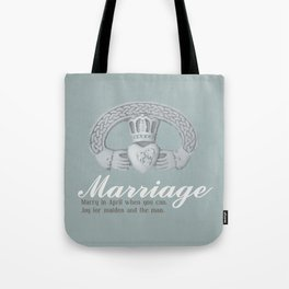 April Marriage Tote Bag
