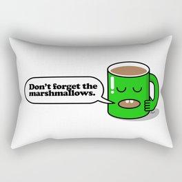 Don't forget the marshmallows. Rectangular Pillow