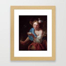 """Godfried Schalcken """"An allegory of Fortune"""" Framed Art Print"""