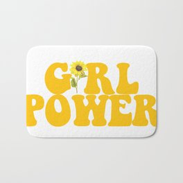 GIRL POWER SUNFLOWER Bath Mat